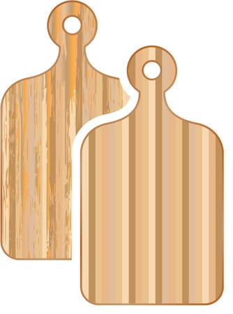 Cutting board vector bamboo illustration image Ilustração