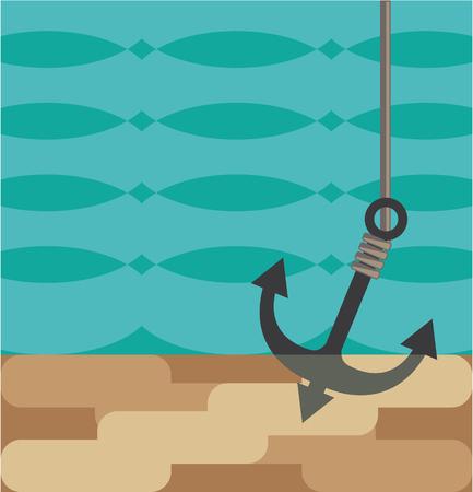 Anchor down vector illustration clip-art image
