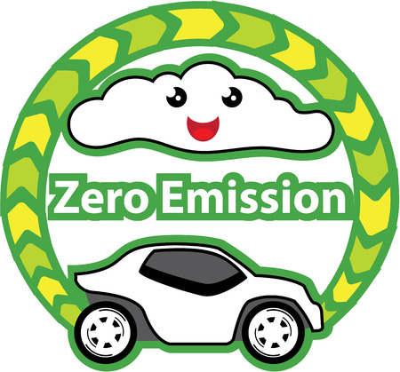 zero emission: Zero emission vector clip-art image