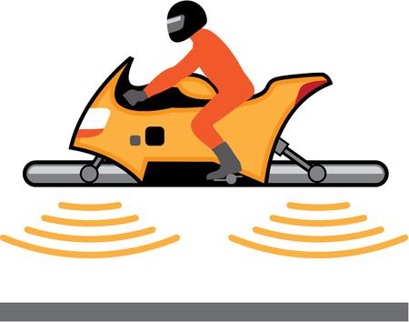 Hover motorcycle vector illustration clip-art image Illustration