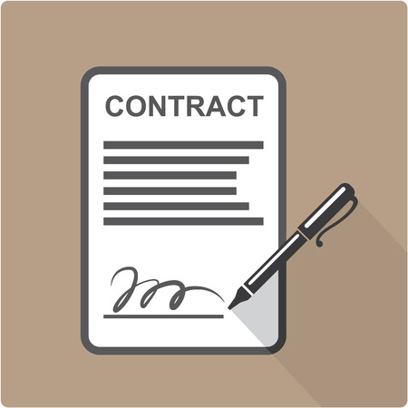 Contract icon illustration clip-art image