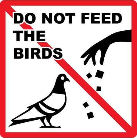 Do not feed the birds sign vector illustration clip-art
