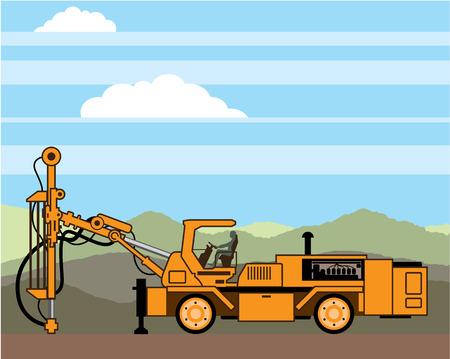 Drilling rig vector illustration clip-art eps file
