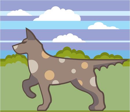 Hunting dog vector illustration clip-art image