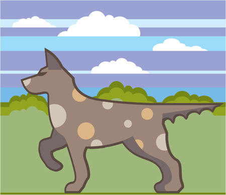 Hunting dog vector illustration clip-art image
