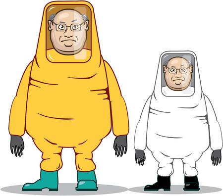 infectious: Chemsuit vector illustration clip-art image