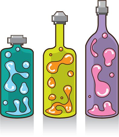 Lava bottles vector illustration clip-art image Stock Illustratie