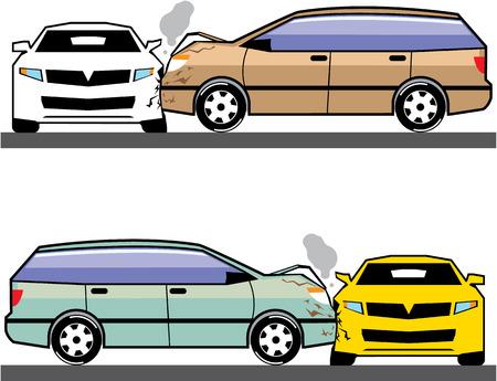 Side crash vector illustration clip-art image Illustration