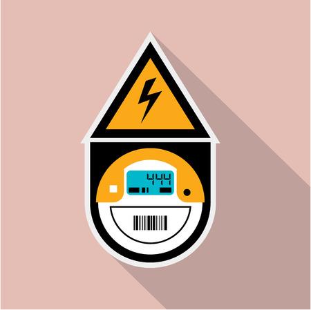 電気のメーター単位ベクトル イラスト クリップ アート
