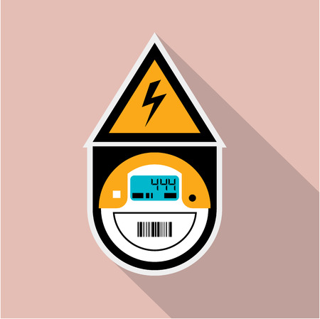 Electric meter unit vector illustration clip-art Ilustração