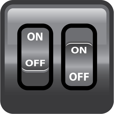 On Off switch vector image clip-art