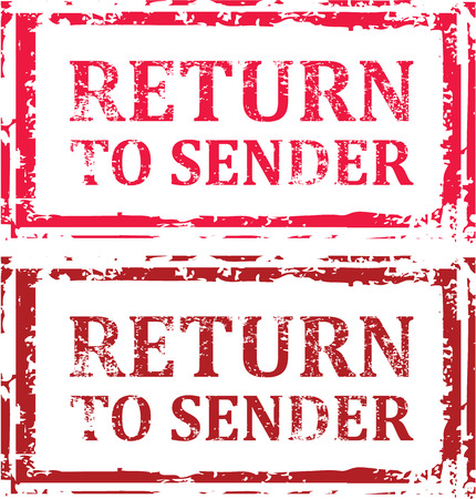 Return to Sender vector-illustraties clip-art afbeelding Stock Illustratie