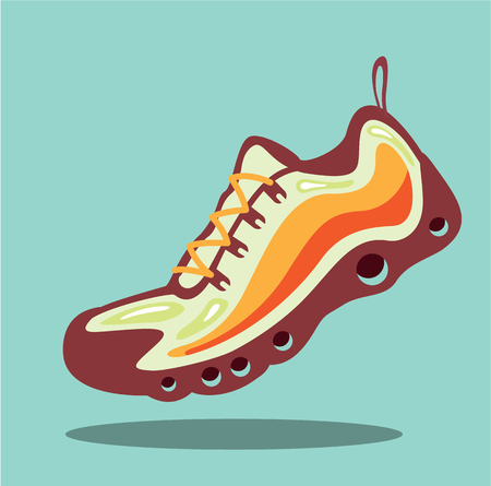 Running shoe vector illustration clip-art image