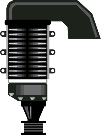 Supercharger vector illustration clip-art image