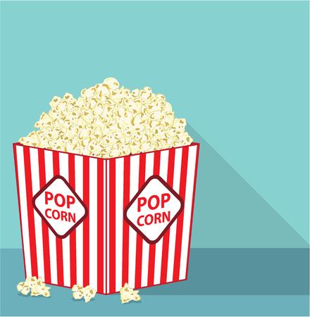 Pop corn box vector illustration clip-art image Stock Vector - 69650790