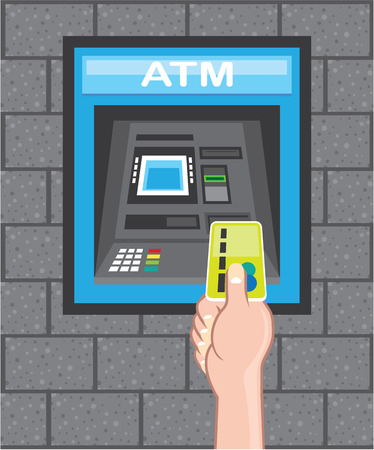 ATM vector illustration clip-art image