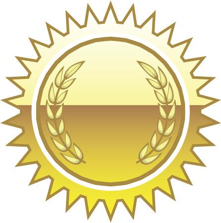 Golden seal label vector illustration clip-art image