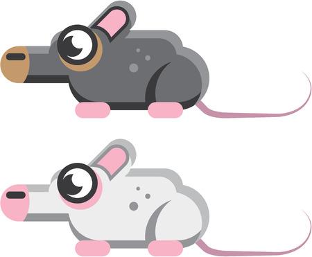 Stylisé vecteur souris images clip-art formes impaire illustration
