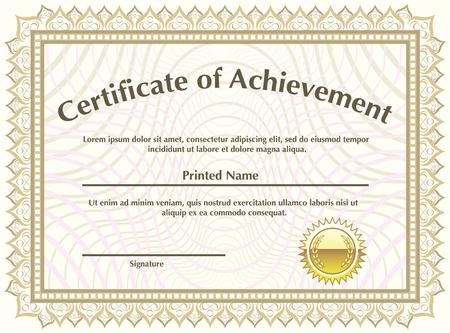 Certificate of Achievement Illustration clip-art vector image