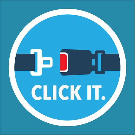 Click It sign vector icon illustration clip-art