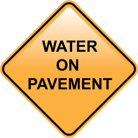 Water on Pavement Sign vector illustration clip-art image Illustration