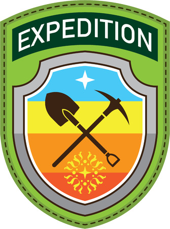 Expedition vector Shield tools patch illustration clip-art