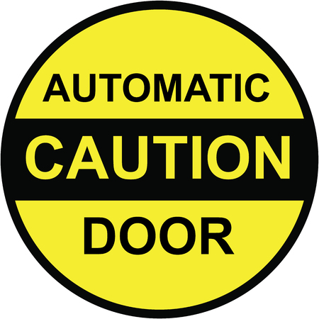 Caution automatic door vector sign clip-art
