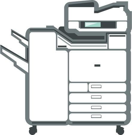 Large printer office equipment vector illustration clip-art Vettoriali
