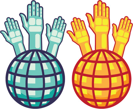 World vote hands people vector image