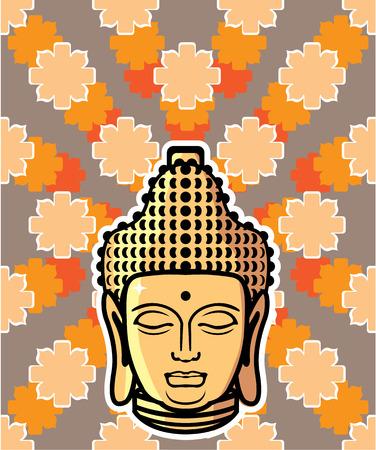 buddha head: Buddha head background illustration clip-art image