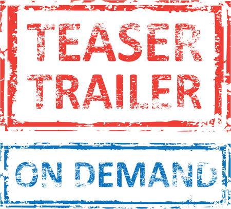 Teaser Trailer On Demand vector stamp clip-art
