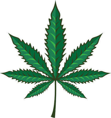 Marijuana leaf vector illustration clip-art image