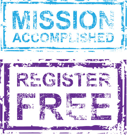 Mission Accomplished register free grunge stamps eps