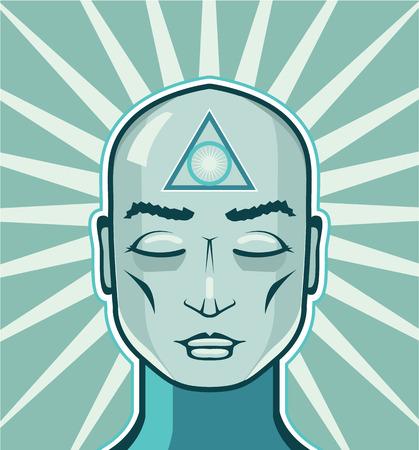 solomon: Solomon triangle vector human illustration clip-art image