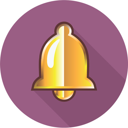 Golden Bell notification Icon clip-art image illustration Illustration
