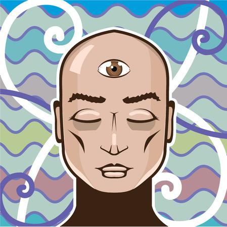 Third eye vector art vision illustration clip-art Illustration