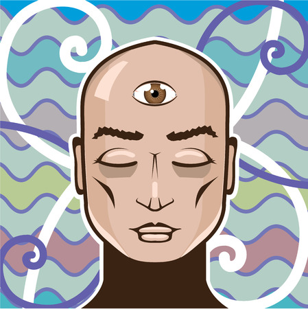 nirvana: Third eye vector art vision illustration clip-art Illustration
