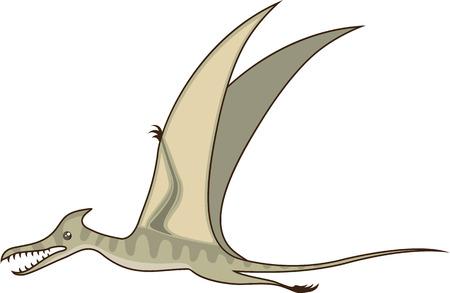 monstrous: Flying dinosaur vector illustration clip-art image