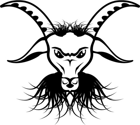Devil Evil goat satan vector illustration clip-art image