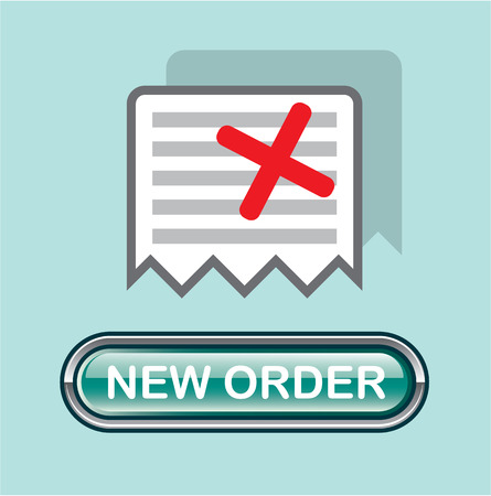 Start new order button vector icon illustration clip-art image
