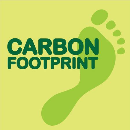 Carbon footprint vector green illustration