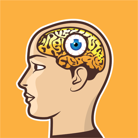 Mind Eye Third Eye vector illustration clip-art image