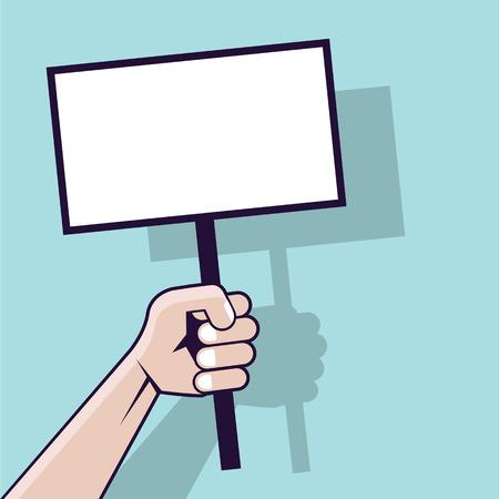 Sign in human hand vector illustration clip-art image