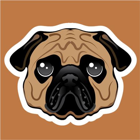 Pug Avatar vector illustration clip-art image