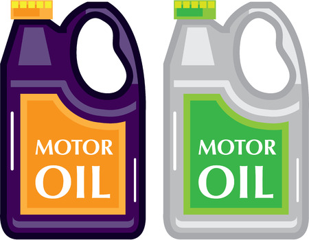 Motor Oil vector can illustration clip-art image