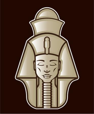 Pharaoh head vector design illustration clip-art image