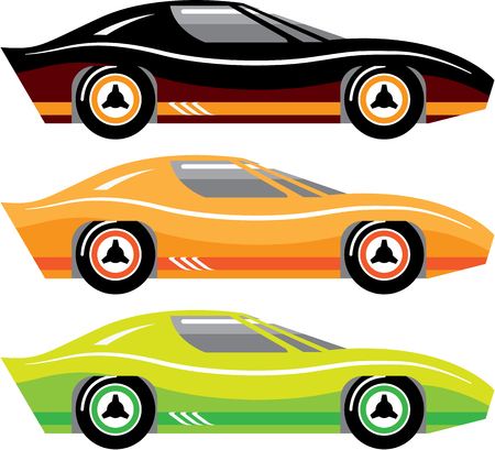 collectibles: Vintage sports car vector illustration clip-art image Illustration