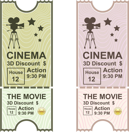 allowed to pass: Movie ticket vector illustration clip-art image Illustration