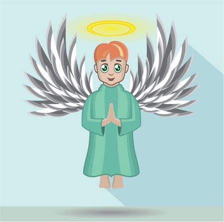 Angel howering vector illustration clip-art image