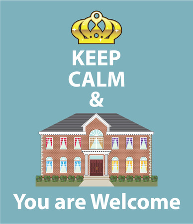 Keep Calm and You are Welcome illustration clip-art image